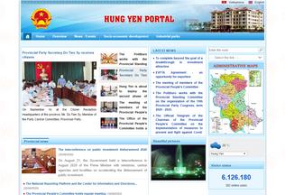 Website en.hungyen.gov.vn desktop preview