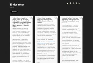 Website enderyener.com desktop preview