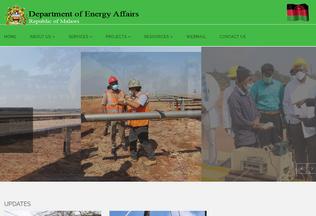 Website energy.gov.mw desktop preview