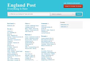 Website englandpost.co.uk desktop preview