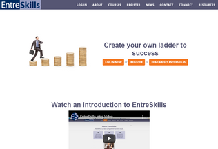 Website entreskills.org desktop preview