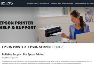 Website epson-contact.com desktop preview