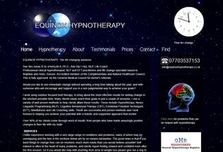 Website equinoxhypnotherapy.co.uk desktop preview