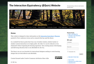 Website equivalencytheorem.info desktop preview