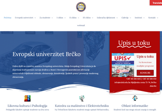 Website eubd.edu.ba desktop preview