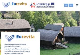 Website eurevita.eu desktop preview