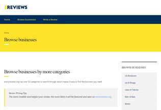 Website everyreviews.org desktop preview