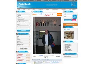 Website evizitka.sk desktop preview
