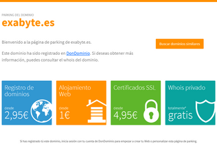 Website exabyte.es desktop preview