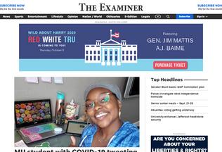 Website examiner.net desktop preview