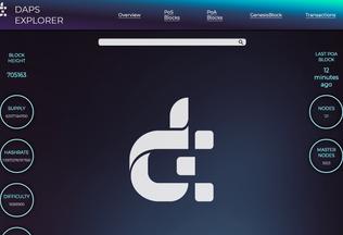 Website Explorer.Dapscoin.com desktop preview