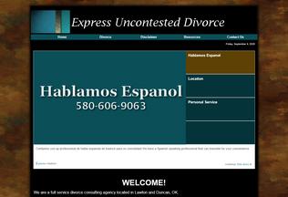 Website expressdivorce.org desktop preview
