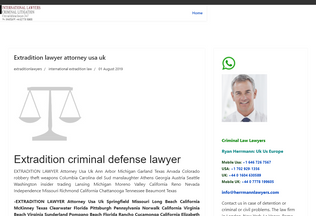 Website extradition.co desktop preview