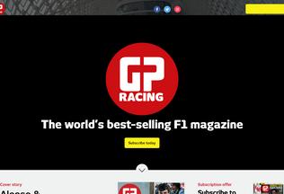 Website f1racing.com desktop preview