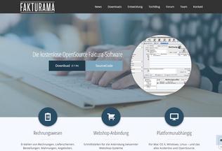 Website fakturama.info desktop preview