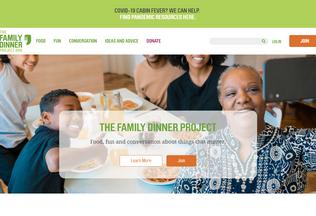 Website familydinnernight.us desktop preview