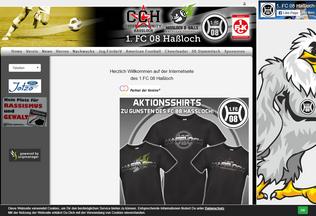 Website fc08hassloch.de desktop preview