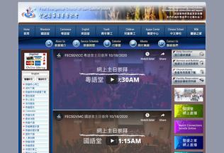 Website fecsgv.org desktop preview