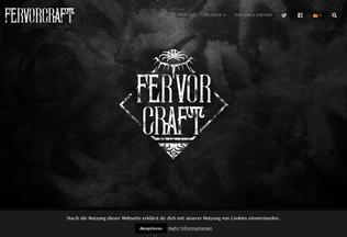 Website fervorcraft.de desktop preview