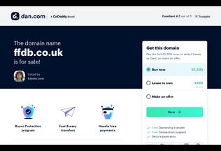Website ffdb.co.uk desktop preview