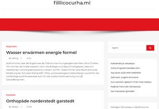 Website filllicocurha.ml desktop preview