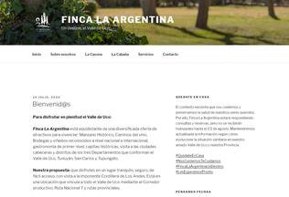 Website fincalargentina.com.ar desktop preview