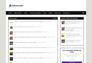 Website findschoolnews.blogspot.com desktop preview