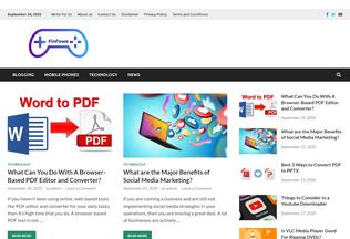 Website finfowe.com desktop preview