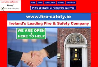 Website fire-safety.ie desktop preview