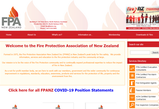 Website fireprotection.org.nz desktop preview