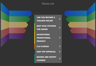 Website flanza.net desktop preview