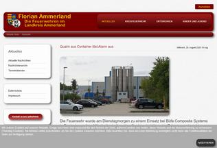 Website florian-ammerland.de desktop preview