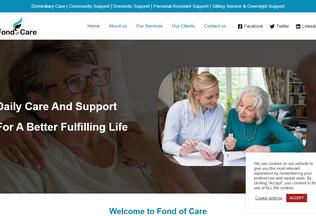 Website fondofcare.co.uk desktop preview