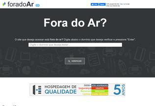 Website foradoar.org desktop preview