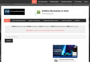 Website forimmediaterelease.net desktop preview