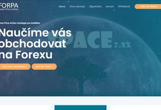 Website forpa.cz desktop preview