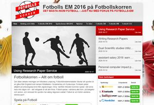 Website fotbollskorren.se desktop preview