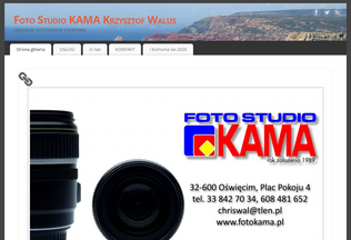 Website fotokama.pl desktop preview