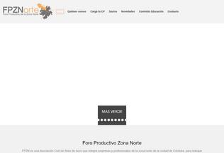 Website fpzn.com.ar desktop preview
