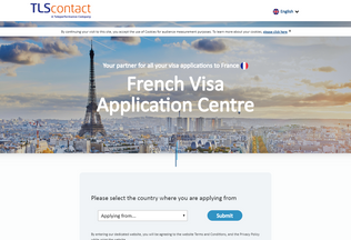 Website fr.tlscontact.com desktop preview