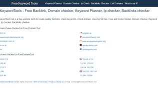Website freekeywordtools.net desktop preview