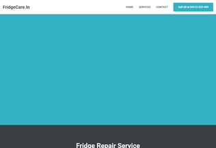 Website fridgecare.in desktop preview