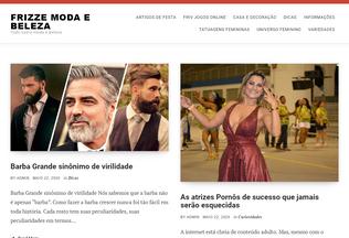 Website frizzevilanova.com.br desktop preview