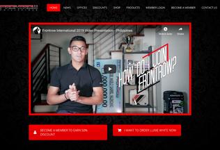 Website frontrow.ph desktop preview