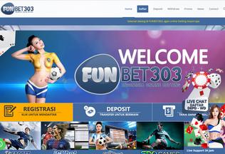 Website funbet303.me desktop preview