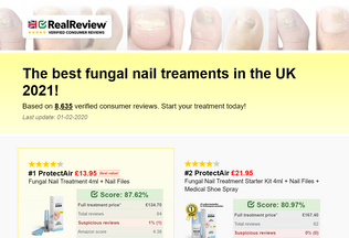 Website fungalnailtreatments.co.uk desktop preview