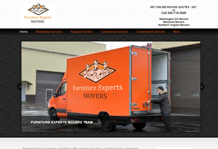 Website furnitureexpertsmovers.com desktop preview