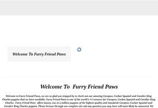 Website furryfriendpaws.com desktop preview