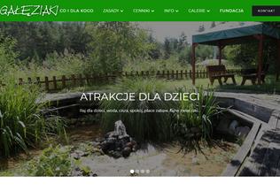 Website galeziaki.pl desktop preview