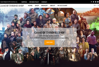 Website gameofthronesshop.org desktop preview